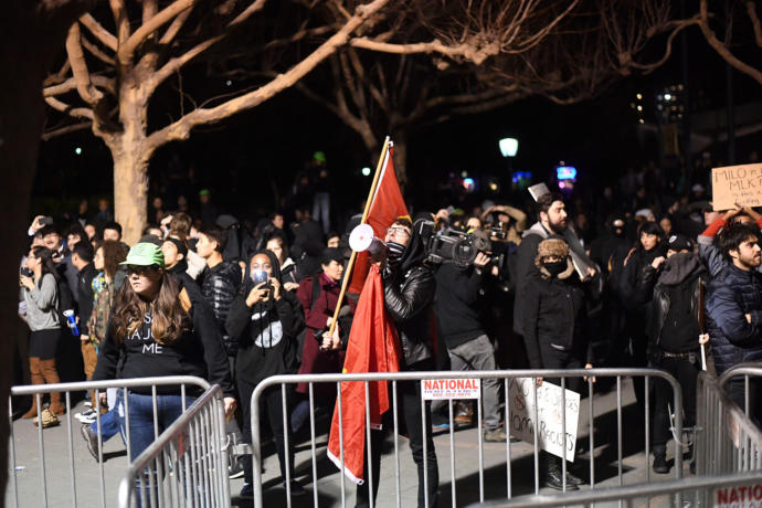 The Breitbart editor and alt-right darling Milos Yiannopoulos has emerged from the furor that scuttled his appearance at Berkeley as both the putative victim and victor.