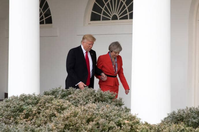 Donald Trump and Theresa May met at the White House on January 27th.