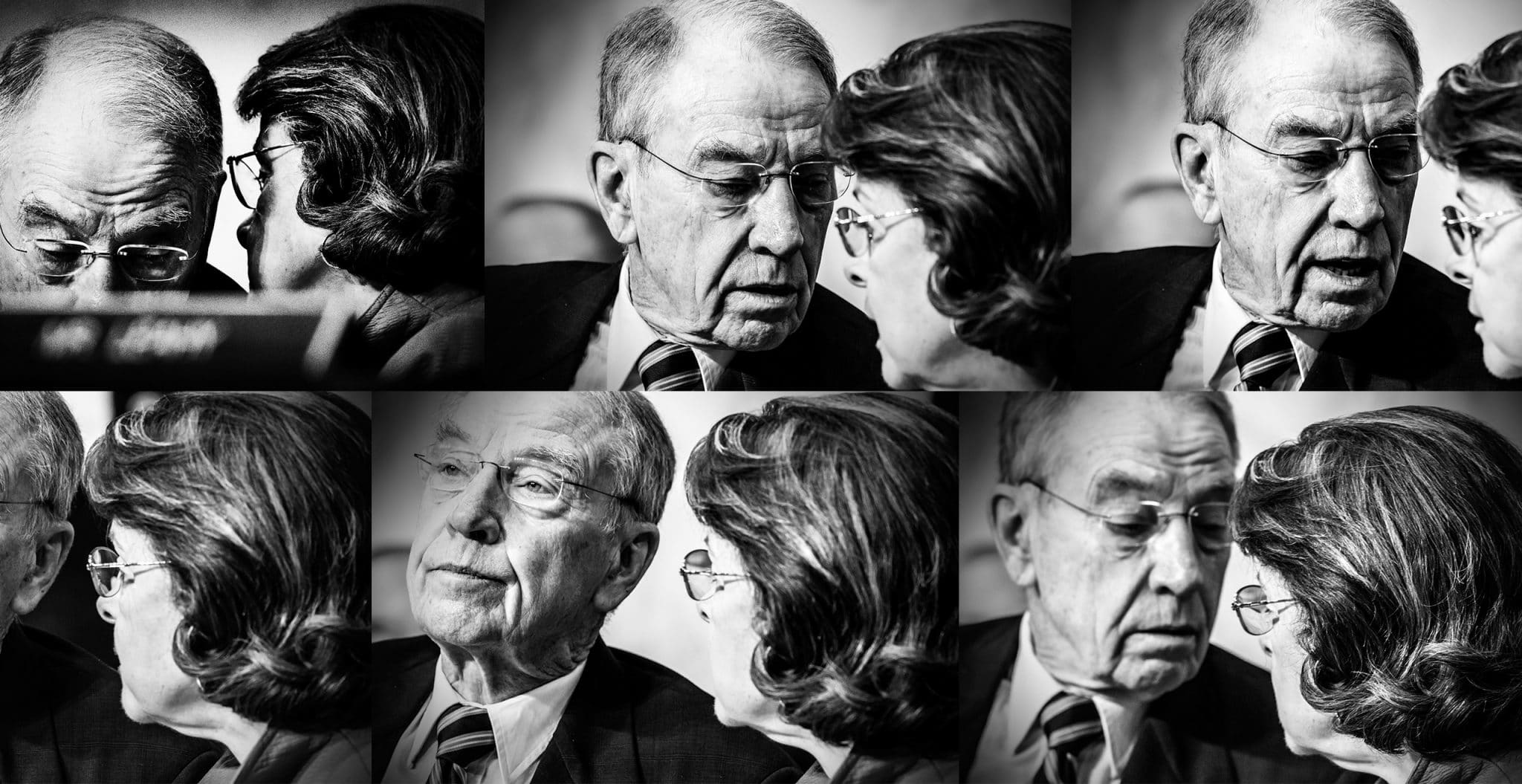 Senators Charles Grassley and Dianne Feinstein during opening statements in the confirmation hearing of Neil Gorsuch, on March 20, 2017.