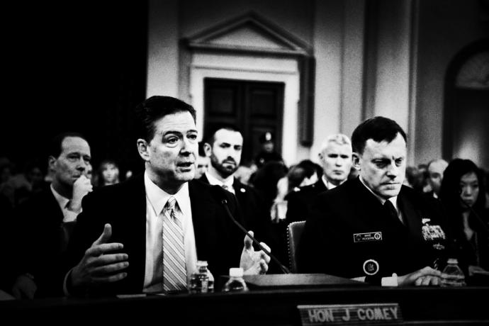 Washington hasn't seen the likes of the F.B.I. director James Comey's hearing before the House Intelligence Committee in many a day—if, indeed, there has ever been anything like it.