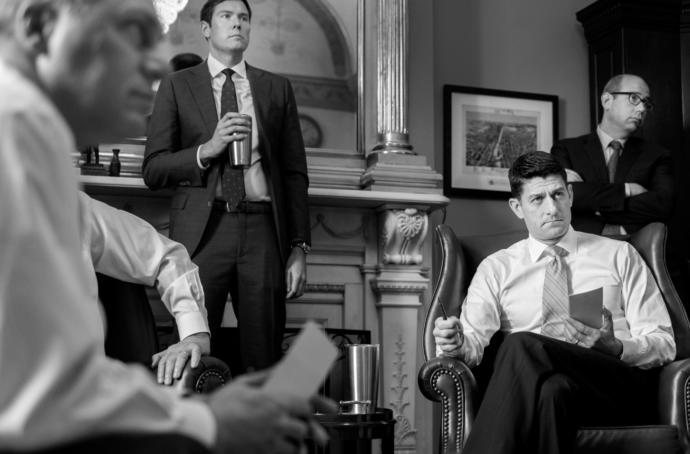 The House Speaker, Paul Ryan, at the White House in April.