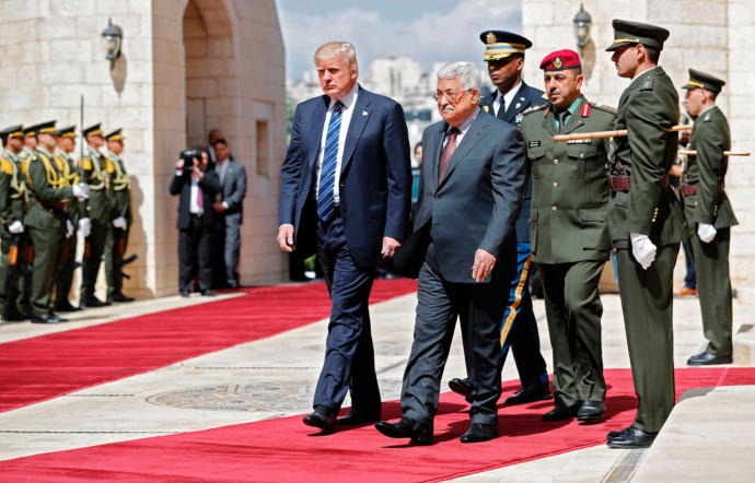 Donald Trump's meeting with Mahmoud Abbas, the President of the Palestinian Authority, raises questions and speculation about the peace process between Israel and Palestine.