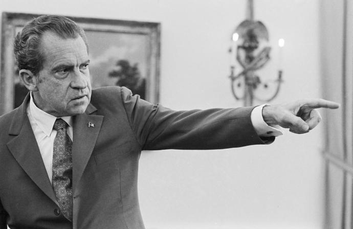 Richard Nixon at the White House in 1973, the year he ordered the firing of the special prosecutor investigating Watergate.